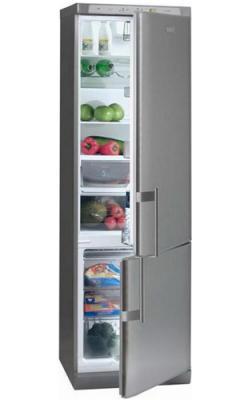 Холодильник с морозильником MasterCook LCE-618A X - вид спереди