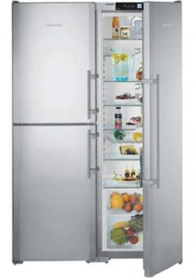 Холодильник с морозильником Liebherr SBSes 7353 - вид спереди