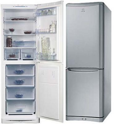 Холодильник с морозильником Indesit NBHA 180 NX - общий вид