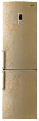 Холодильник с морозильником LG GA-B489BVTP - Вид спереди