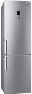 Холодильник с морозильником LG GA-B489BLQA - Вид спереди