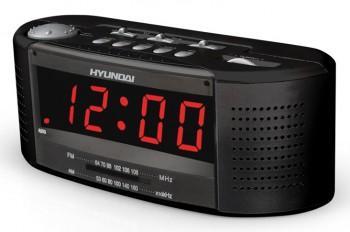 Радиочасы Hyundai H-1510  (Black-Red) - вид спереди