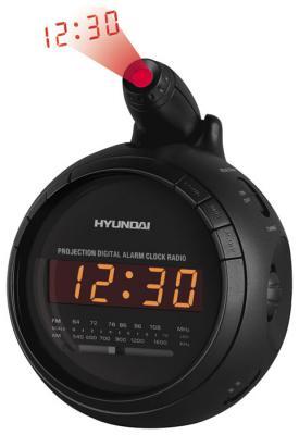 Радиочасы Hyundai H-1525  (Black) - вид спереди