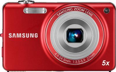 Компактный фотоаппарат Samsung ST65 (EC-ST65ZZBPRRU) Red - вид спереди