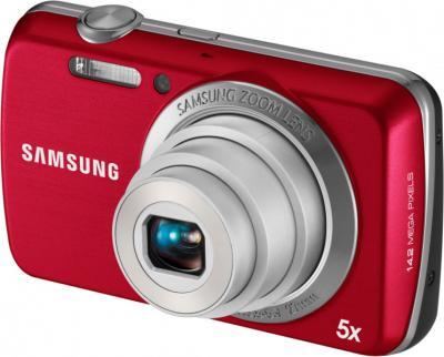 Компактный фотоаппарат Samsung EC-PL20 (EC-PL20ZZBPRRU) Red - Общий вид