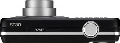 Компактный фотоаппарат Samsung ST30 (EC-ST30ZZBPBRU) Black - вид сверху