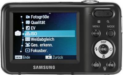 Компактный фотоаппарат Samsung ES80 (EC-ES80ZZBPBRU) Black - вид сзади