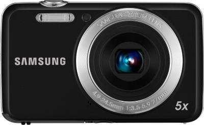 Компактный фотоаппарат Samsung ES80 (EC-ES80ZZBPBRU) Black - вид спереди