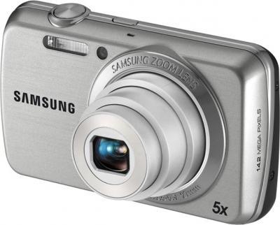 Компактный фотоаппарат Samsung EC-PL20 (EC-PL20ZZBPSRU) Silver - Вид сбоку