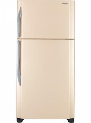 Холодильник с морозильником Sharp SJ-T640RBE - вид спереди