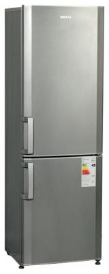 Холодильник с морозильником Beko CS334020X - общий вид