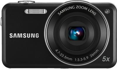 Компактный фотоаппарат Samsung ST95 (EC-ST95ZZBPBRU) Black - вид спереди