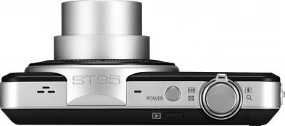 Компактный фотоаппарат Samsung ST95 (EC-ST95ZZBPBRU) Black - вид сверху
