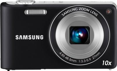 Компактный фотоаппарат Samsung PL210 (EC-PL210ZBPBRU) Black - вид спереди