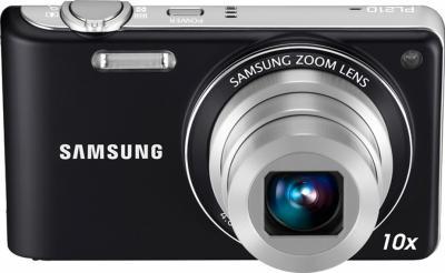 Компактный фотоаппарат Samsung PL210 (EC-PL210ZBPBRU) Black - общий вид