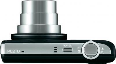 Компактный фотоаппарат Samsung PL210 (EC-PL210ZBPBRU) Black - вид сверху