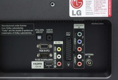 Телевизор LG 26LK330 - вид спереди