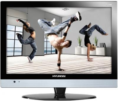 Телевизор Hyundai H-LED22V4 Black - вид спереди