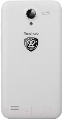 Смартфон Prestigio MultiPhone 3450 Duo (белый) - вид сзади