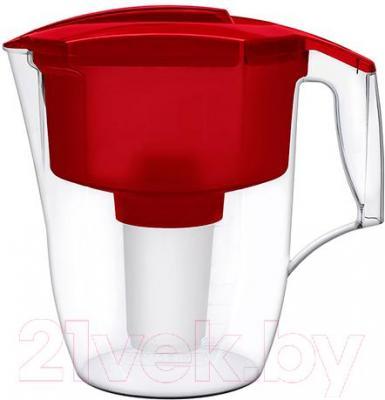 Фильтр питьевой воды Аквафор Гарри P42B05N (красный,с дополнительным модулем) - общий вид