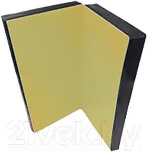 Гимнастический мат Зубрава Сэндвич (желто-черный) - общий вид