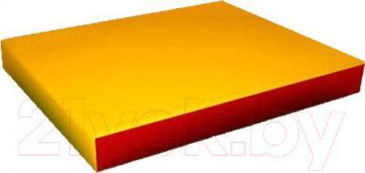 Гимнастический мат Зубрава 0.5х0.6х0.1 (желто-красный) - общий вид