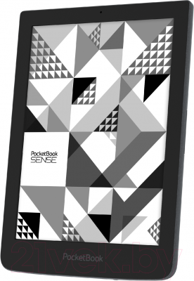 Электронная книга PocketBook Sense 630 (серый, с чехлом) - вполоборота