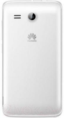 Смартфон Huawei Ascend Y511 (белый) - вид сзади