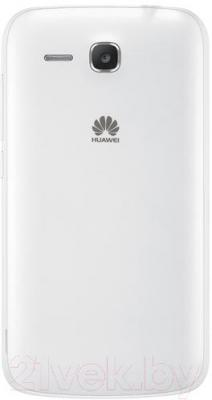 Смартфон Huawei Ascend Y600 (белый) - вид сзади