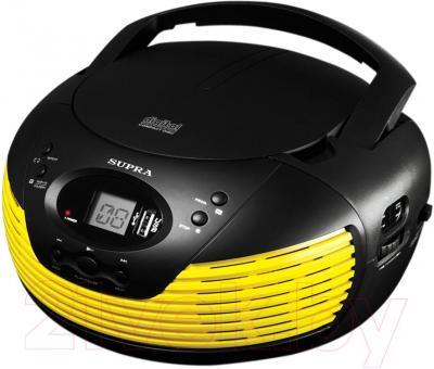 Магнитола Supra BB-CD120U (черно-желтый) - общий вид