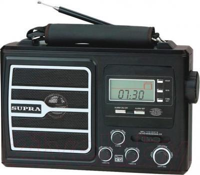 Радиоприемник Supra ST-110 (черный) - общий вид