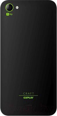 Смартфон Explay Craft (черный) - вид сзади