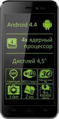 Смартфон Explay Craft (черный) - общий вид