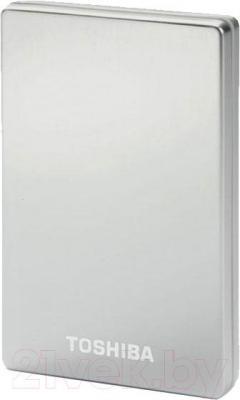 "Внешний жесткий диск Toshiba StorE Alu2 2.5"" 320GB HDD Silver (PX1624E1HC2) - общий вид"