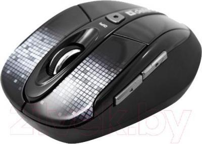 Мышь Defender To-GO MS-585 / 52585 (черный с рисунком) - вид в проекции