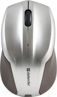 Мышь Defender Optimum MM-165 Nano / 52165 (серый) - вид сверху