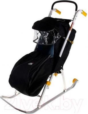 Санки-коляска Ника НД2 (черный)