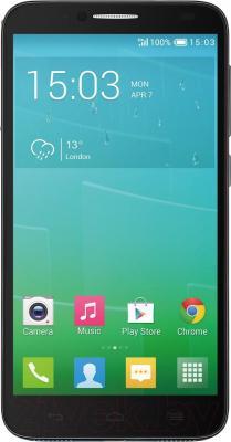 Смартфон Alcatel One Touch Idol 2 6037K (черный/сланец) - общий вид