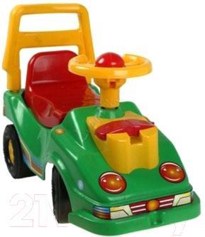 Каталка детская ТехноК Автомобиль для прогулок 1196 (зеленый) - общий вид