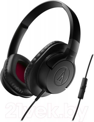 Наушники-гарнитура Audio-Technica ATH-AX1iS (черный) - общий вид