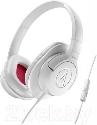 Наушники-гарнитура Audio-Technica ATH-AX1iS (White) - общий вид