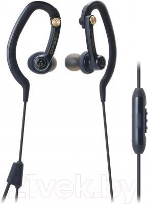 Наушники-гарнитура Audio-Technica ATH-CKP200iS (черный) - общий вид