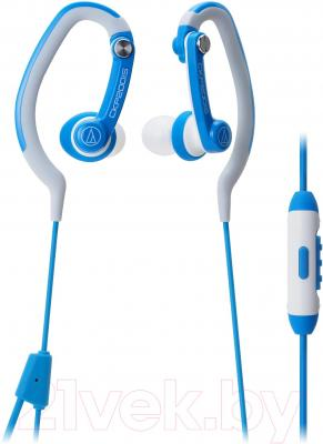 Наушники-гарнитура Audio-Technica ATH-CKP200iS (синий) - общий вид