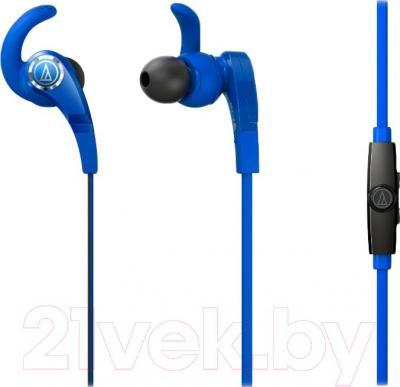 Наушники-гарнитура Audio-Technica ATH-CKX7iS (синий) - общий вид
