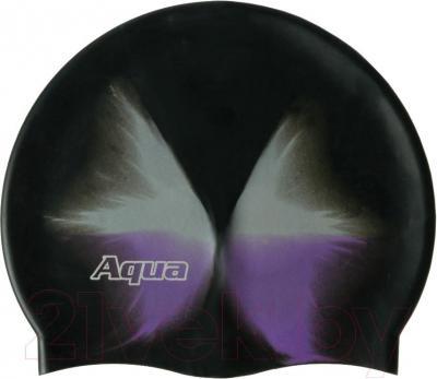 Шапочка для плавания Aqua 352-07314 (темная радуга) - общий вид