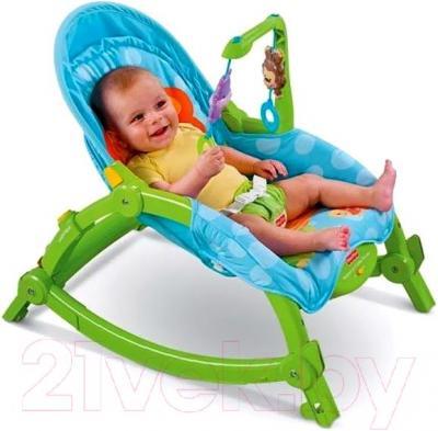 Детский шезлонг Lorelli Сhill Out (Green) - ребенок в шезлонге