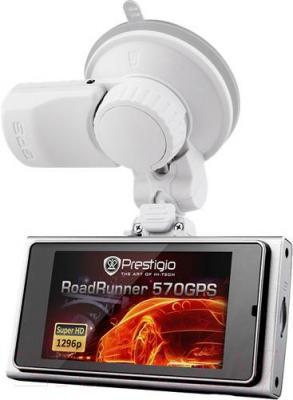 Автомобильный видеорегистратор Prestigio RoadRunner 570GPS / PCDVRR570GPS - с креплением