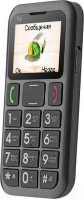 Мобильный телефон Fly Ezzy 6 (черный) - общий вид
