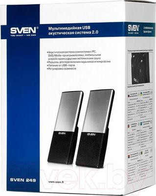 Мультимедиа акустика Sven 249 (черный) - в упаковке
