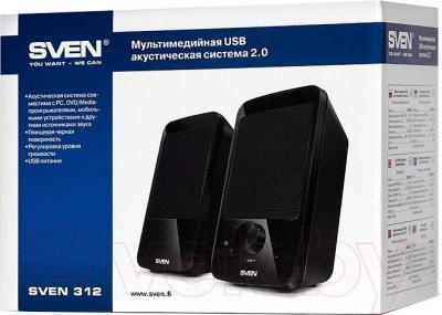 Мультимедиа акустика Sven 312 (черный) - общий вид